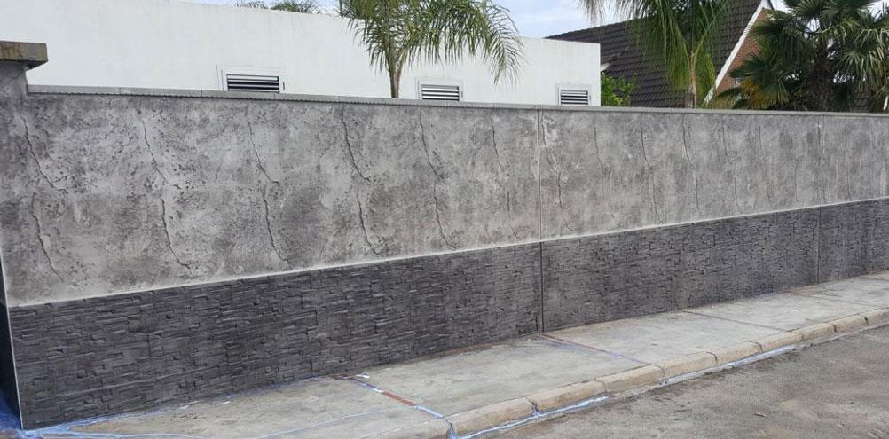 fachadas en Hormigón impreso vertical