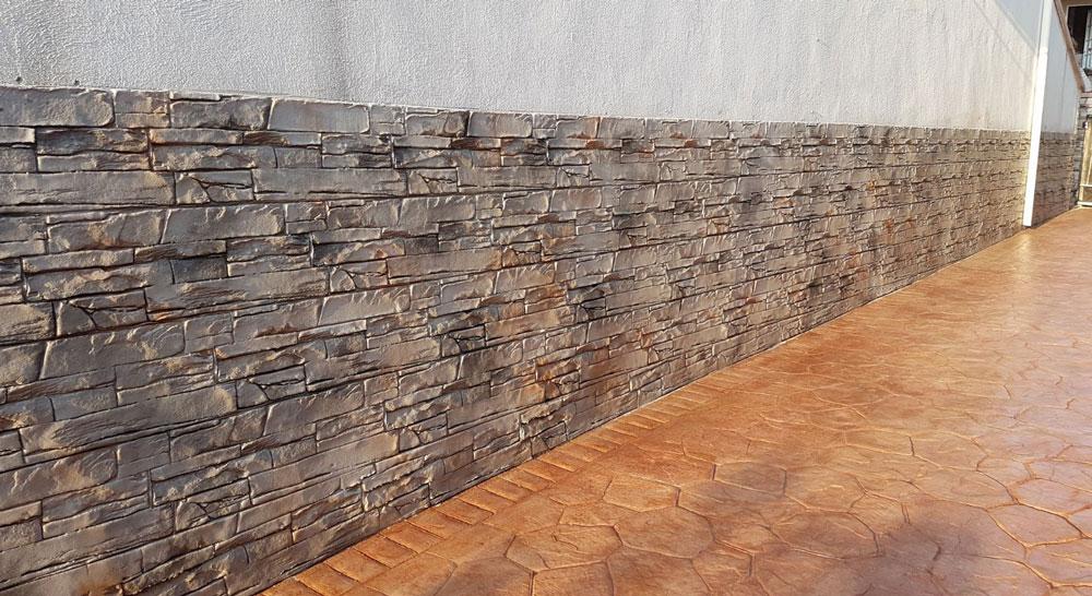 paredes Hormigón impreso vertical