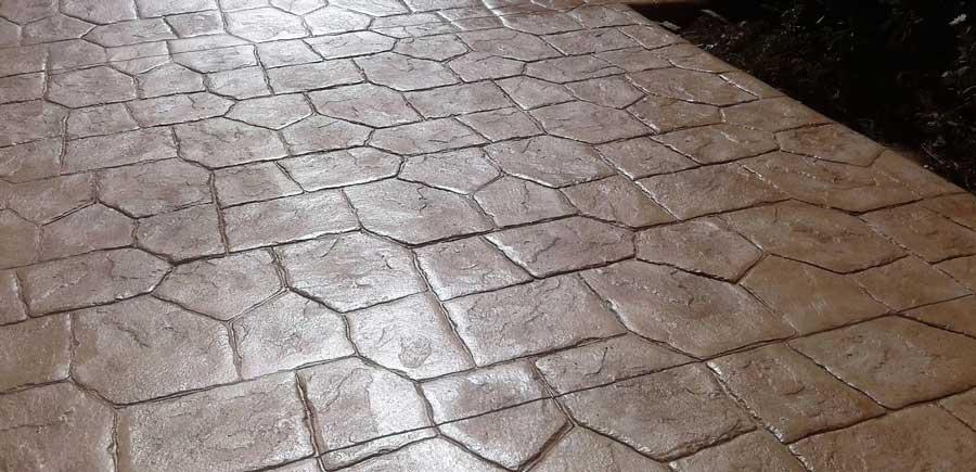 Hormigón impreso Burgos imitacion piedra de castillo
