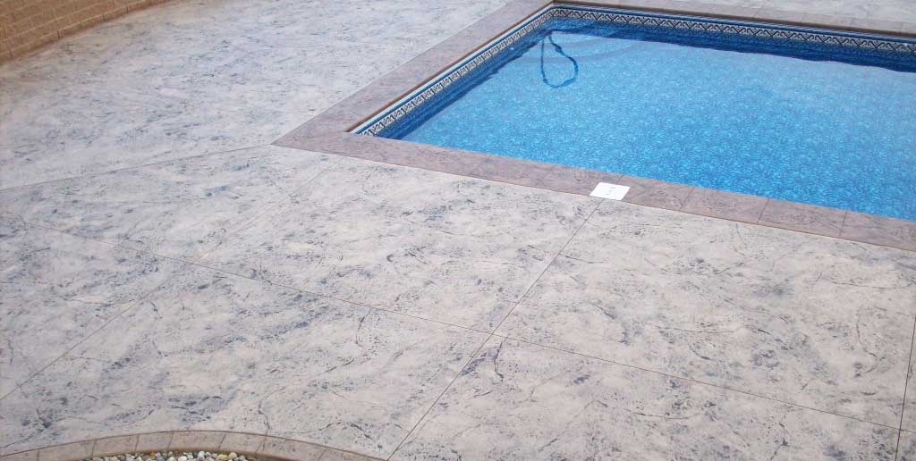 hormigón impreso piscina