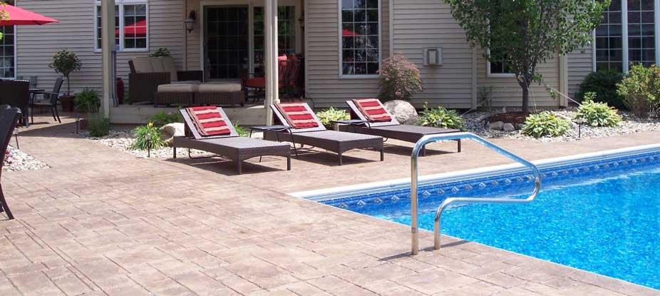 pavimento impreso piscina