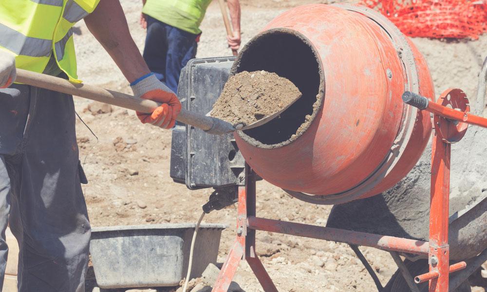 hacer el hormigón seco