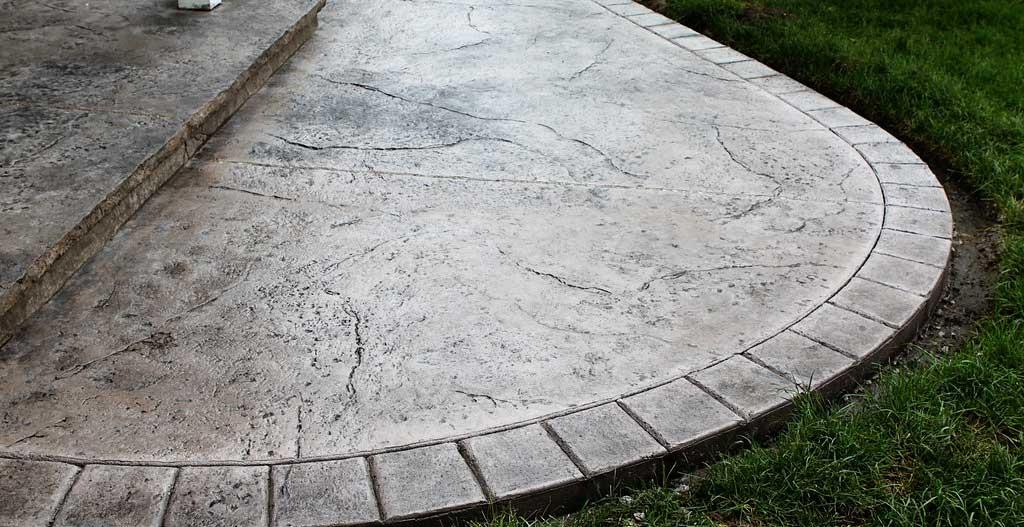 suelo para exterior en Hormigón impreso