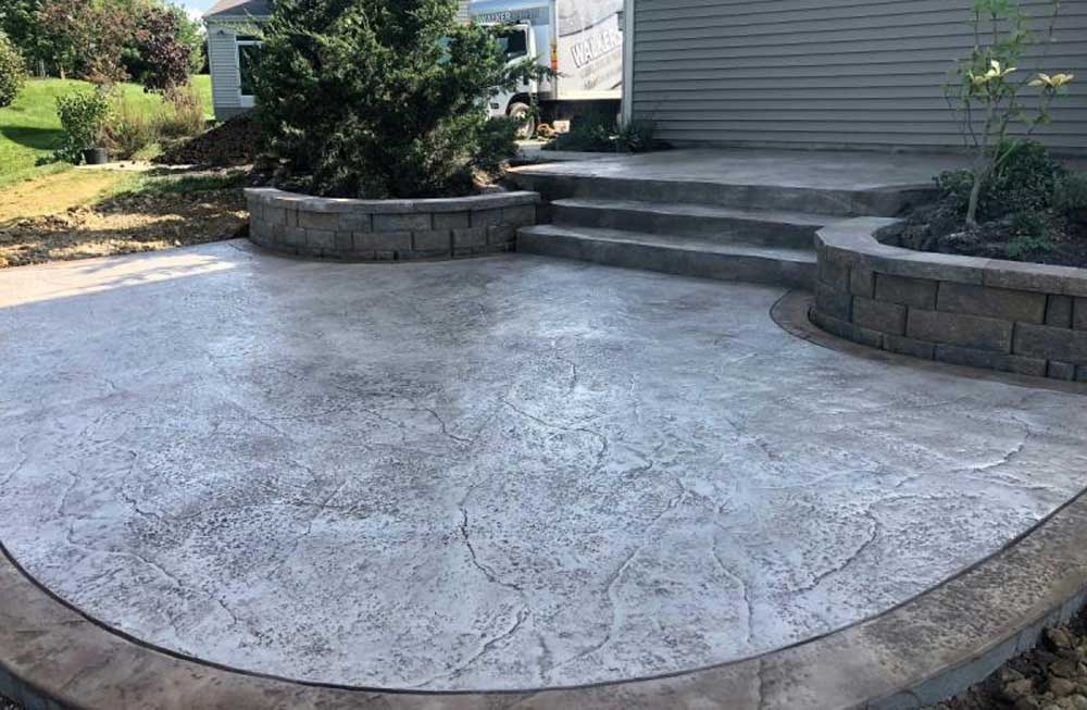 pavimentos de hormigón impreso color gris