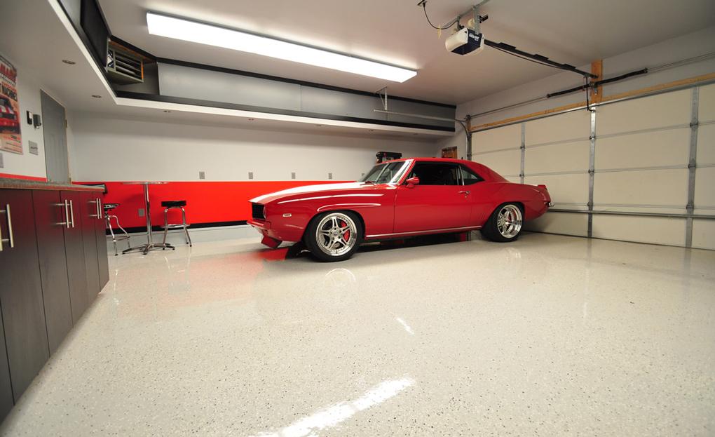 suelo garaje en pavimento poliuretanico
