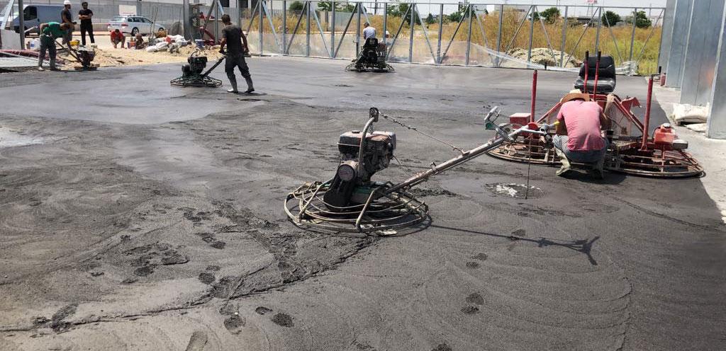 suelo Hormigón semipulido con cuarzo
